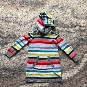 GAP kids holiday crazy stripe sweater dress 4t